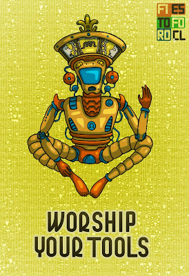 Worship your tools, image about god robot