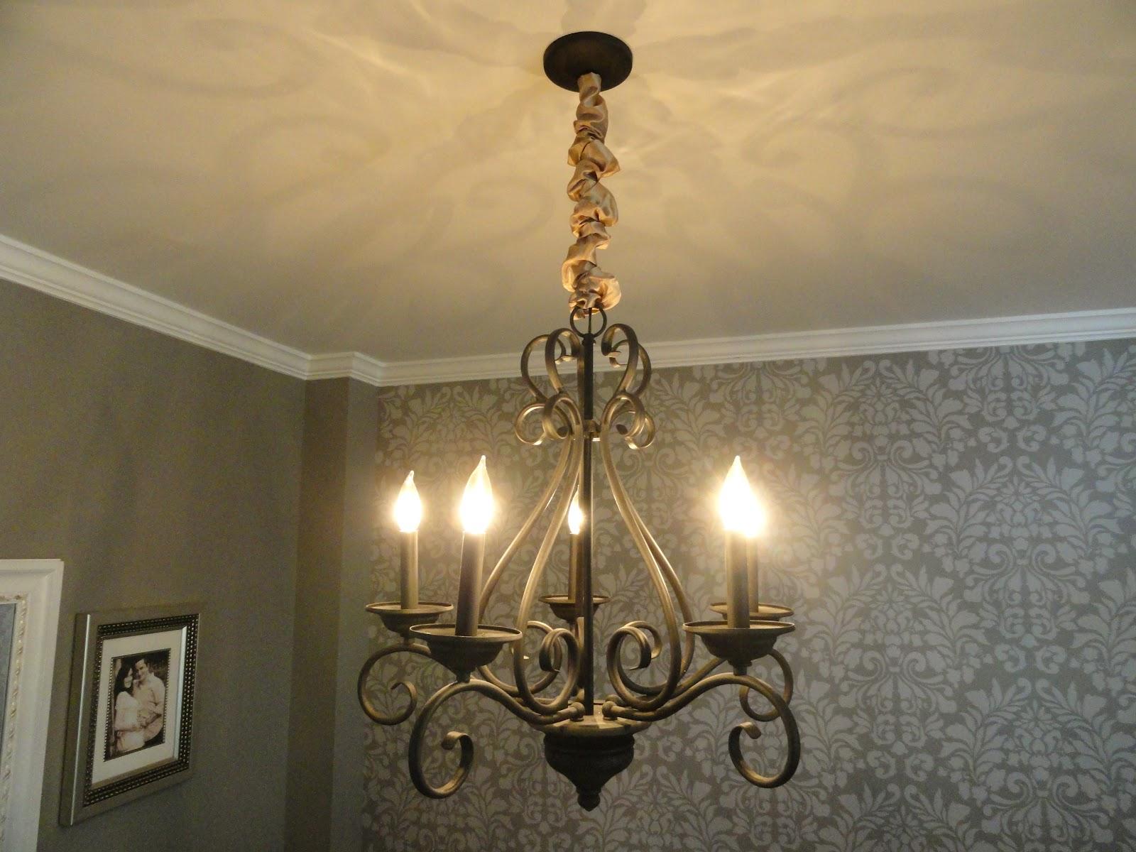 Rachel s Nest DIY chandelier chain cover