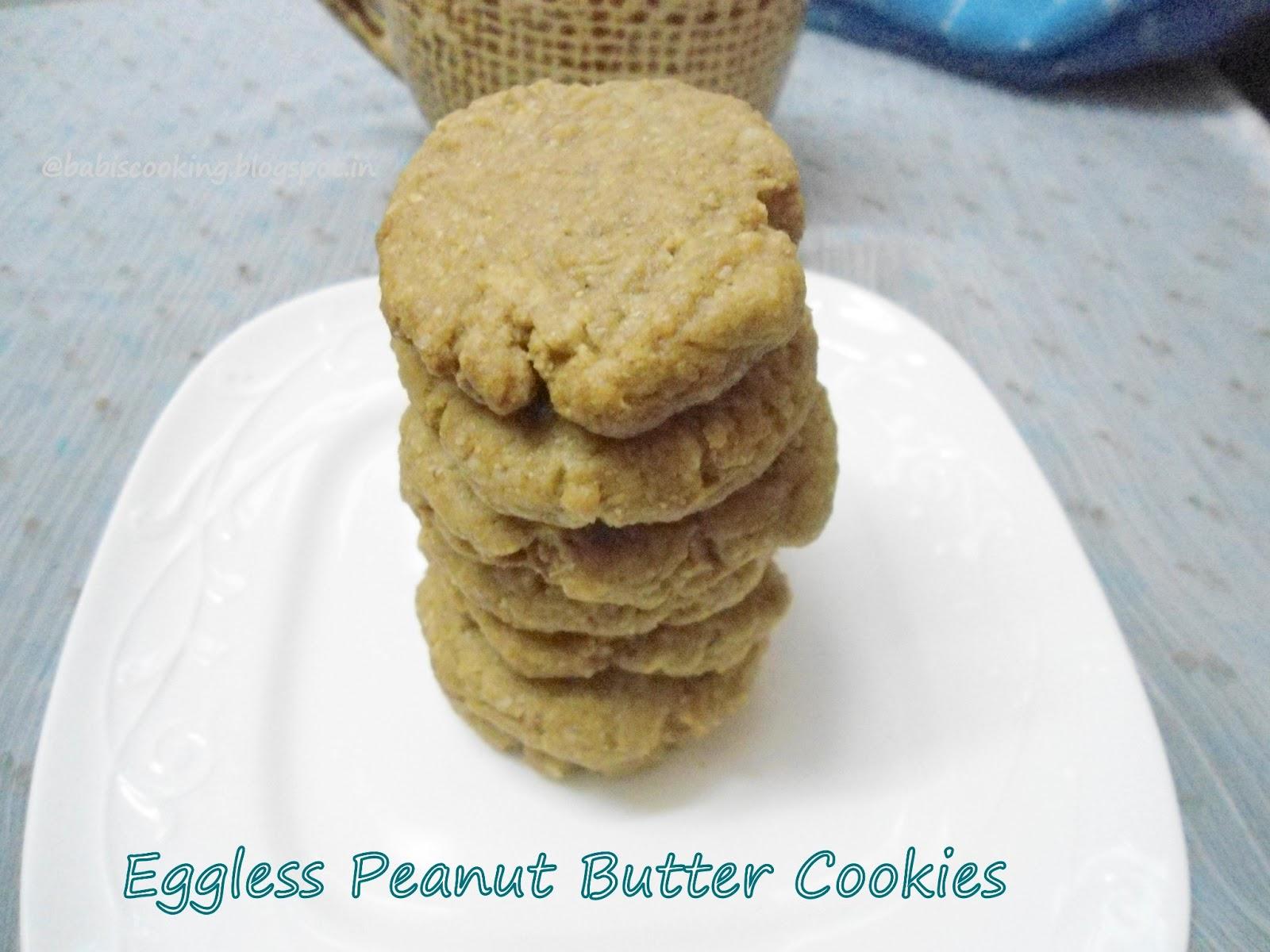 eggless penut butter cookies