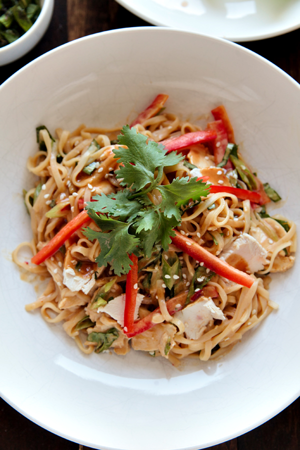 Gluten Free Thai Peanut Chicken Noodles by Fresstyler