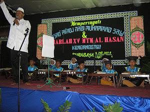 MENGUJI SANTRI TPQ AL-HASAN RUNGKUT SBY