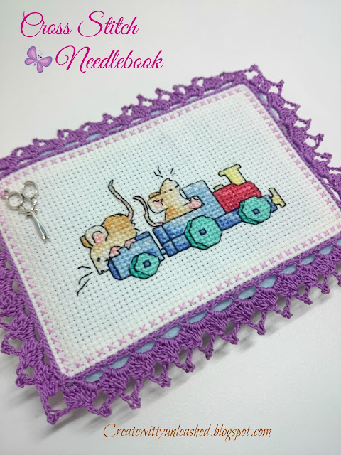 Cross Stitch felt needle book 1