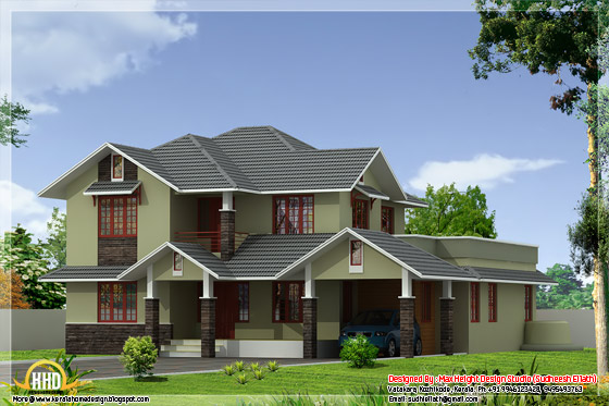 2600 square feet home design elevation