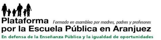Plataforma por la Escuela Pública en Aranjuez