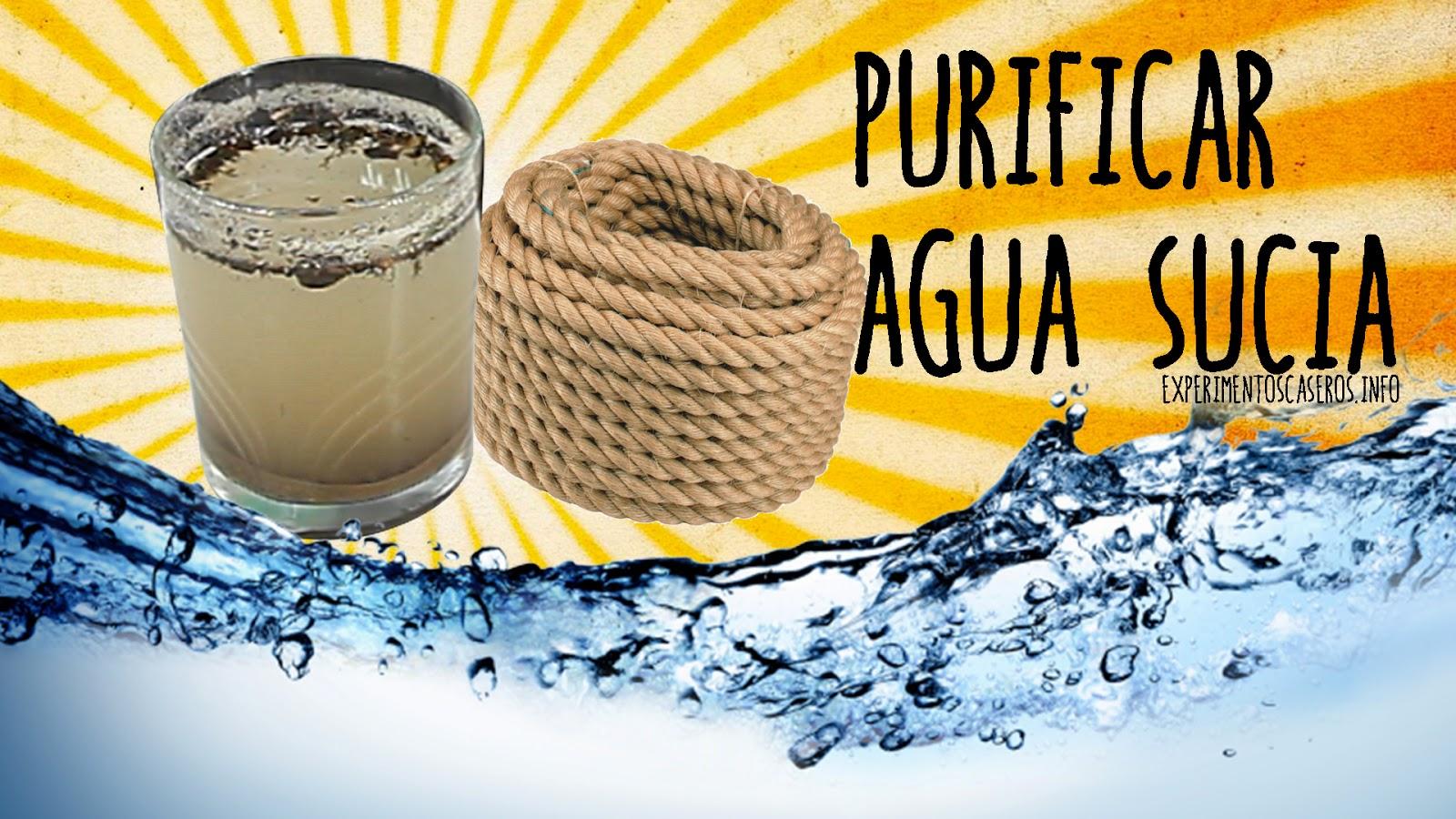 Cómo purificar agua sucia con una cuerda, supervivencia para un apocalipsis zombie, experimentos caseros, experimentos sencillos, experimentos fáciles, experimentos para niños, ciencia, ciencia en casa