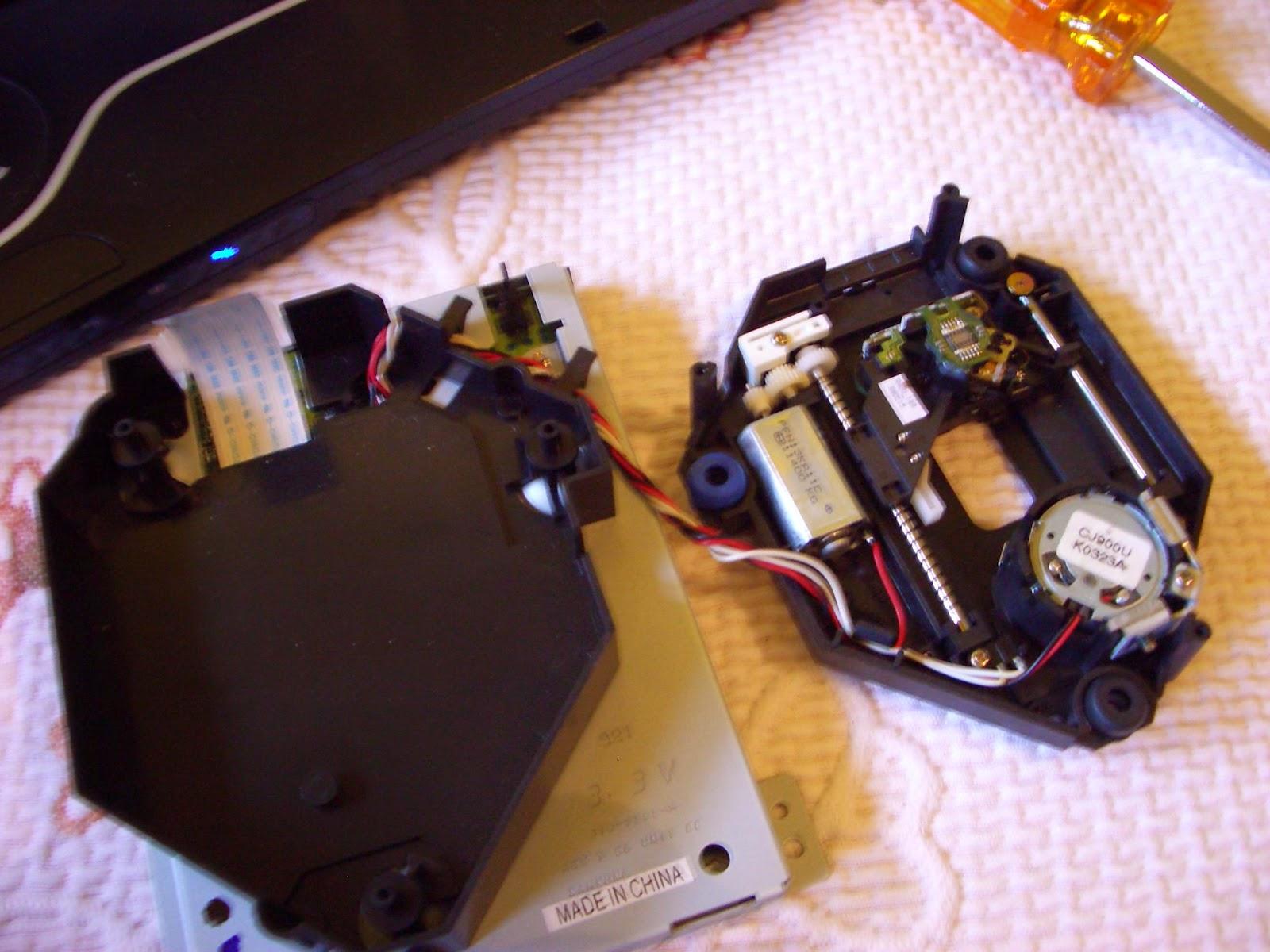Interior de la unidad GD-ROM