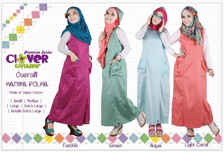 Busana Muslimah Murah Koleksi Overall Kaniya Clover Clothing