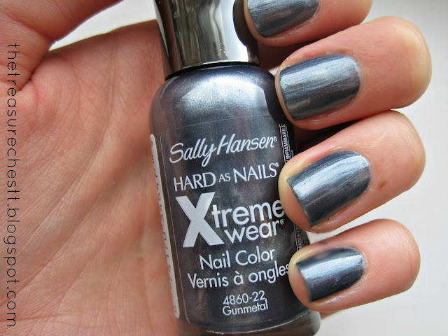 sally hansen xtreme extreme wear gunmetal swatch  salon manicure new york fashion week