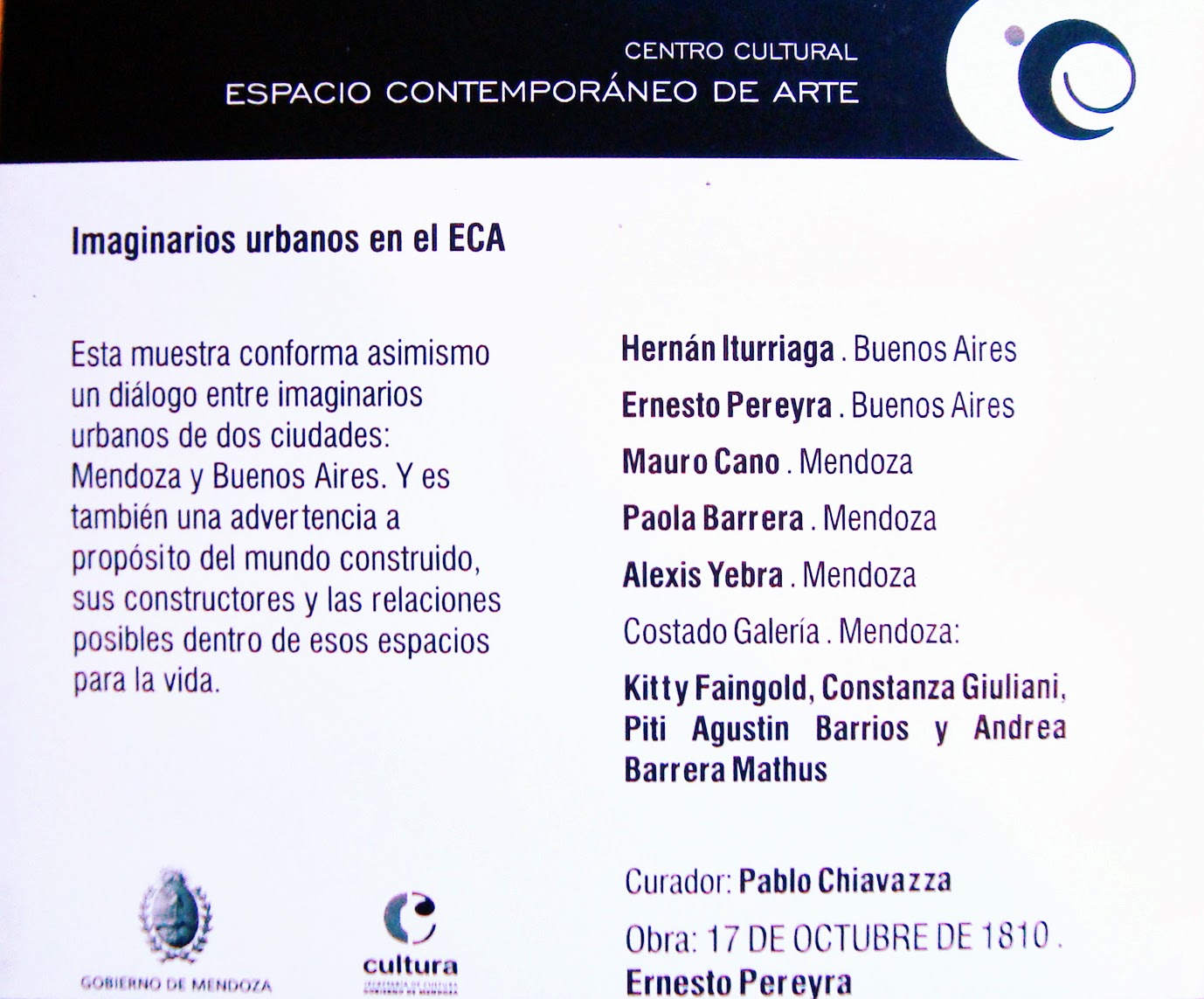 Catálogo ECA Mendoza