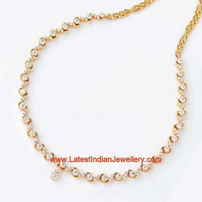 Simple Diamond Necklace For Classy Look