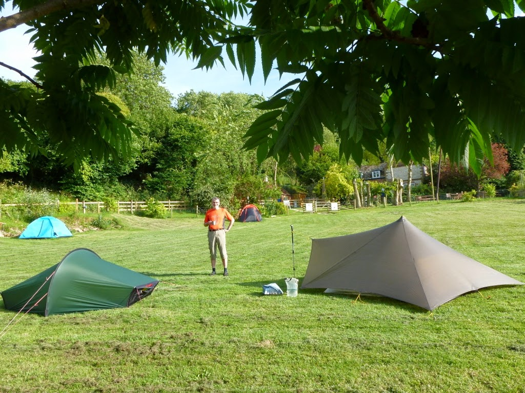 Camp at Britchcombe Farm