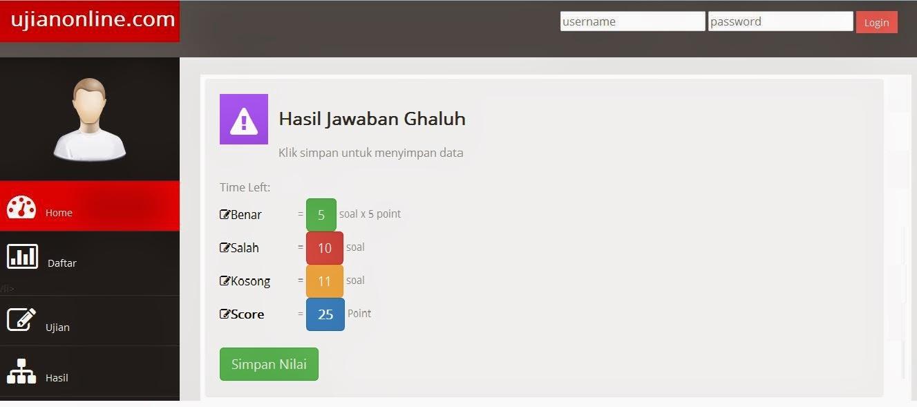 Screenshot Halaman Administrator