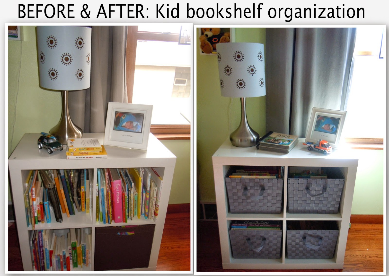 Joanna 39 s design organization ending kid bookshelf clutter for Ikea backless bookcase
