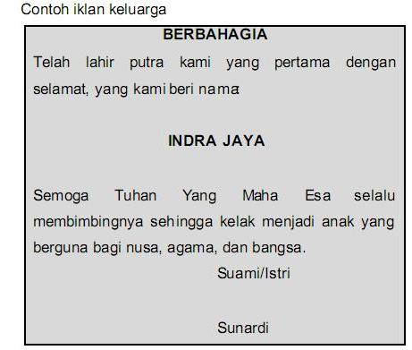 Contoh Iklan Barang