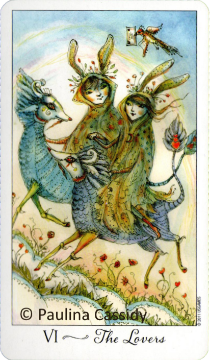 Joie de Vivre Tarot, The Lovers, Paulina Cassidy