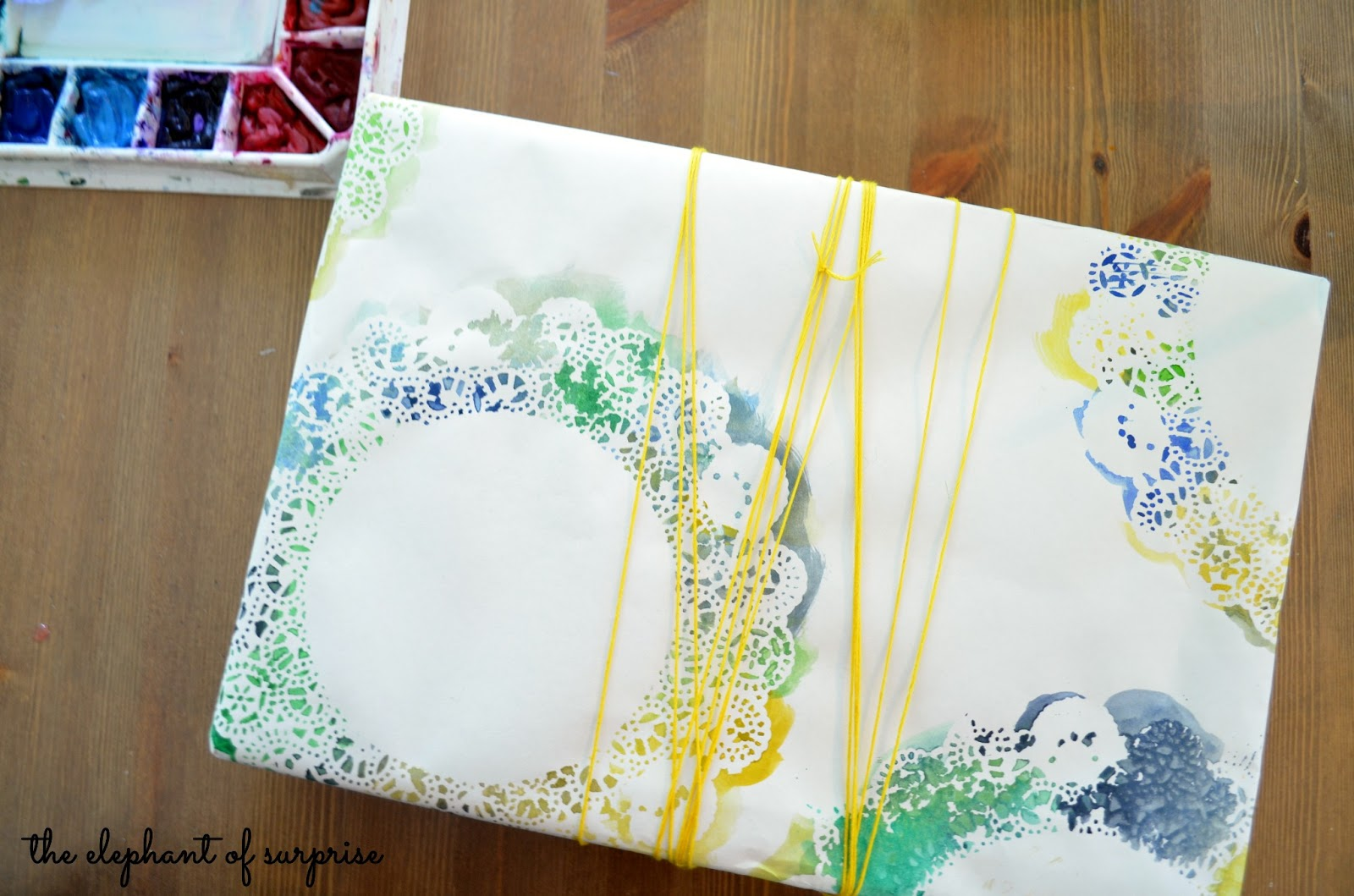 The elephant of surprise art for non artists easy doily for Easy watercolour projects