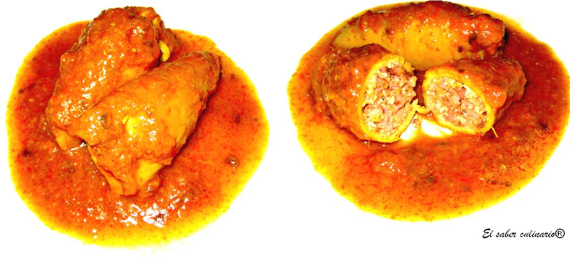 Calamares rellenos receta paso a paso el saber culinario - Salsa para calamares rellenos ...