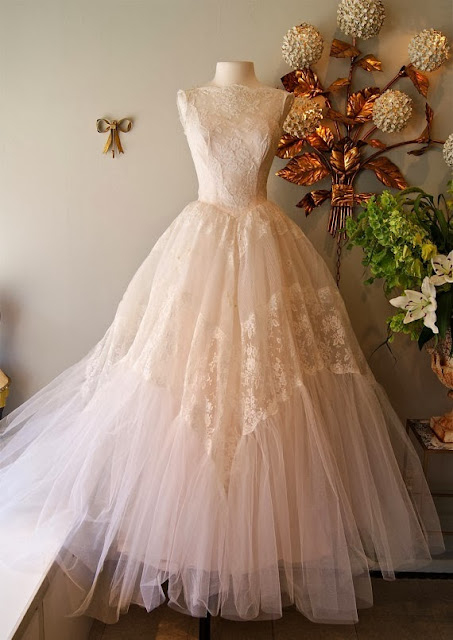 Cream Color Petticoat Dress