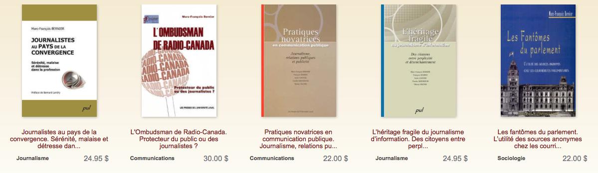 Autres ouvrages consacrés au journalisme