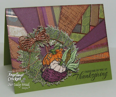 "Our Daily Bread designs ""Pumpkin Wreath"" Designer Angie Crockett"