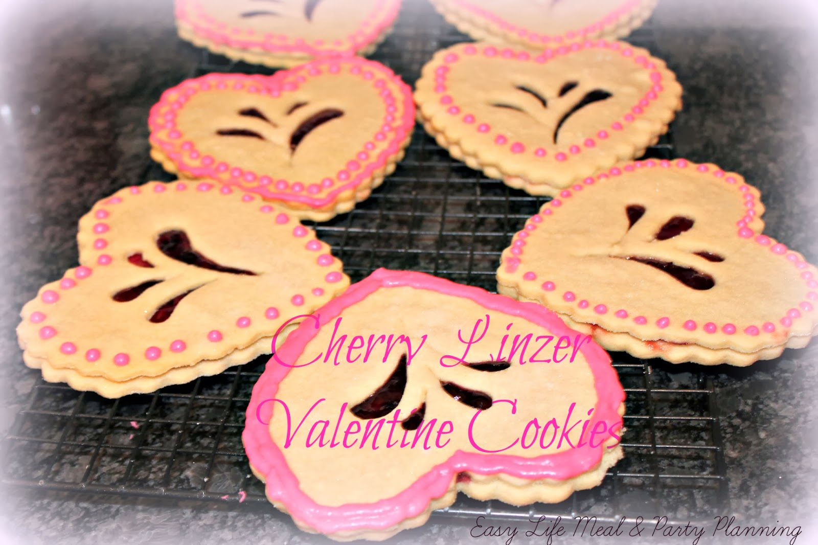 Valentine Linzer Cookie - Easy Life Meal & Party Planning