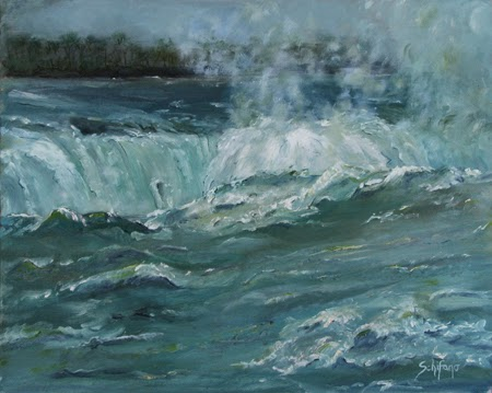 Kathy Schifano, plein air Niagara, oil paint commission
