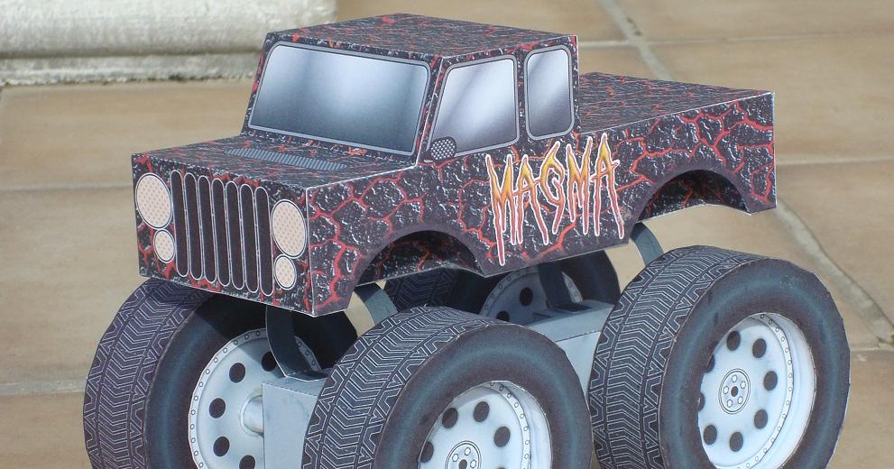 Sinner playing with art monster truck magma custom