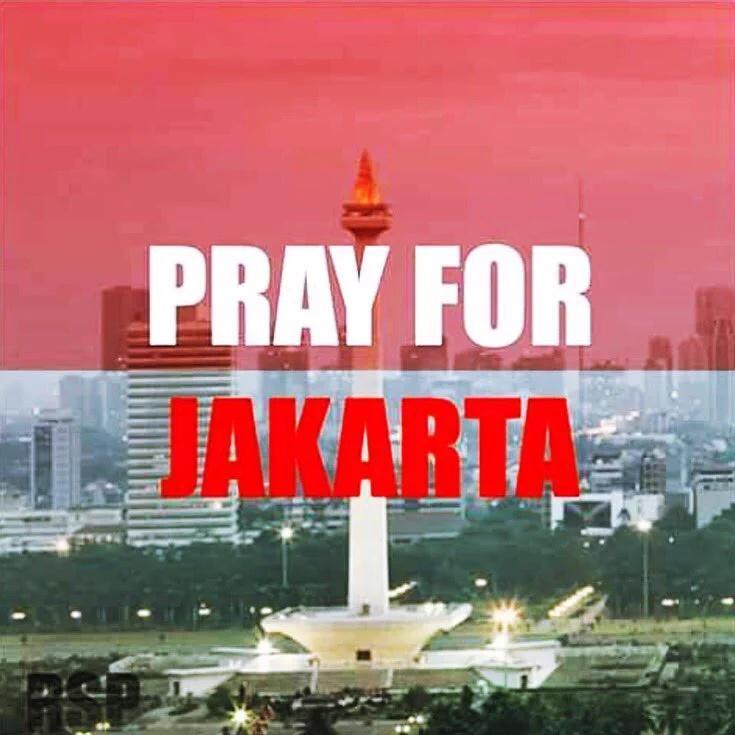 Gambar DP BBM #PrayforJakarta