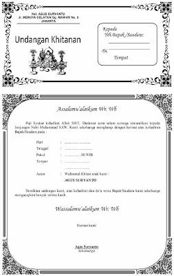 undangan berikut adalah contoh undangan khitanan yang bisa diubah ...