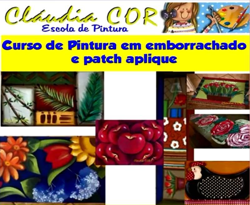 CURSO DE PINTURA EM EMBORRACHADO E PATCH APLIQUE