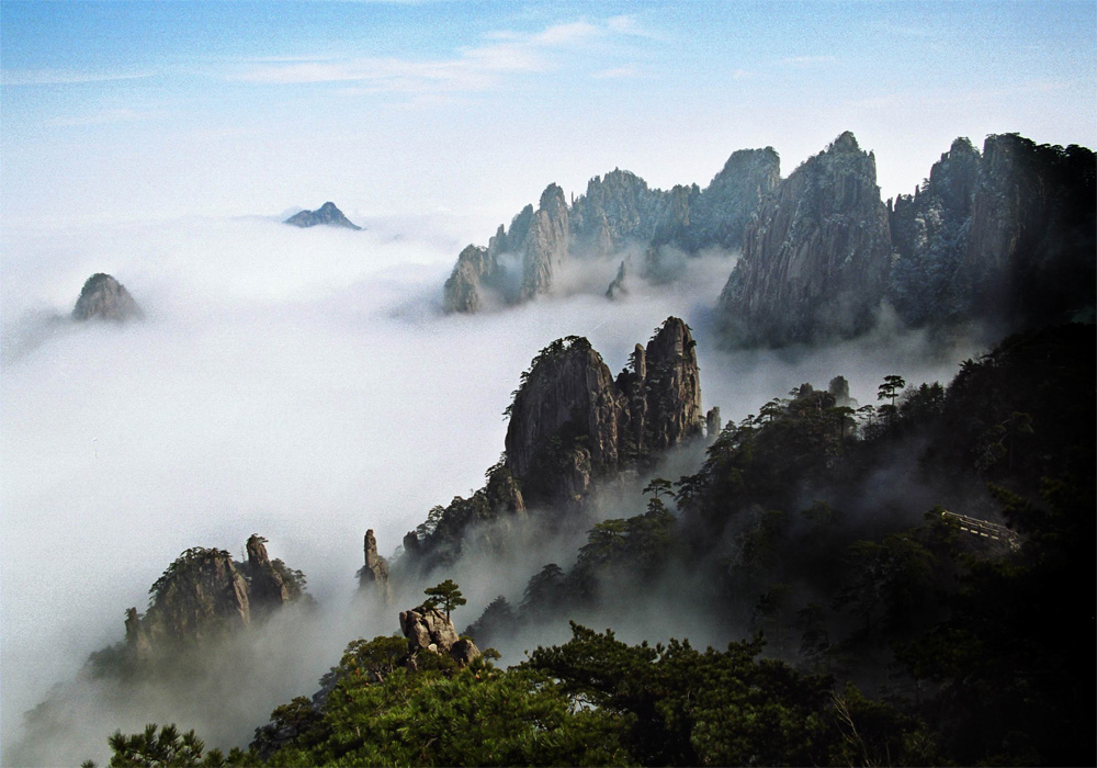 "Huangshan, or ""Yellow Mountains"" - THE BEST BEACH"