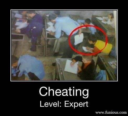 Funny Exam Cheating