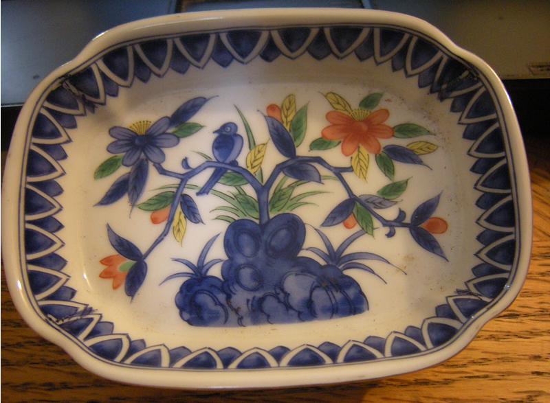 Early 1970s Kakiemon Style Japanese Porcelain Soap Dish. 第弌陶器 Dai-ichi TokiTakahashi 高橋