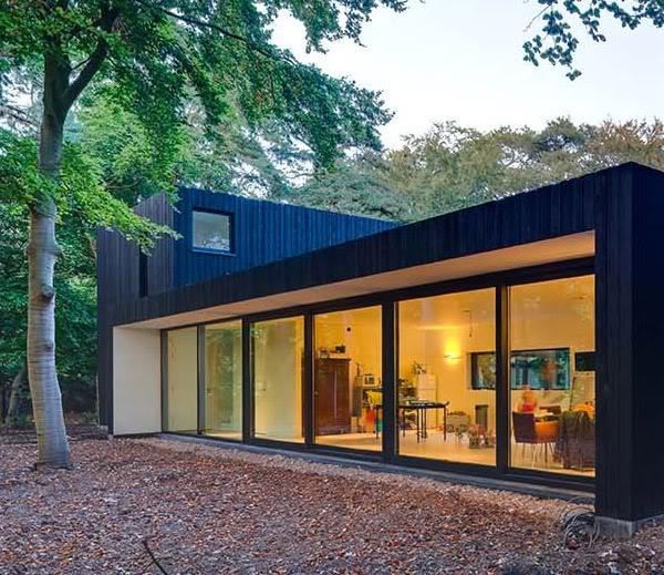 Arquitectura arquidea casa minimalista con aires ecol gicos for Casa minimalista bosque