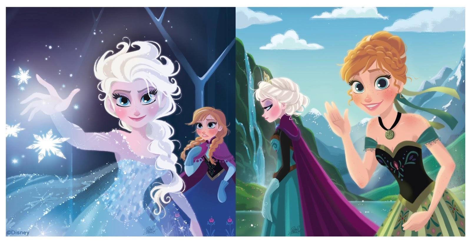 David gilson illustrations sur la reine des neiges - Disney reine des neige ...