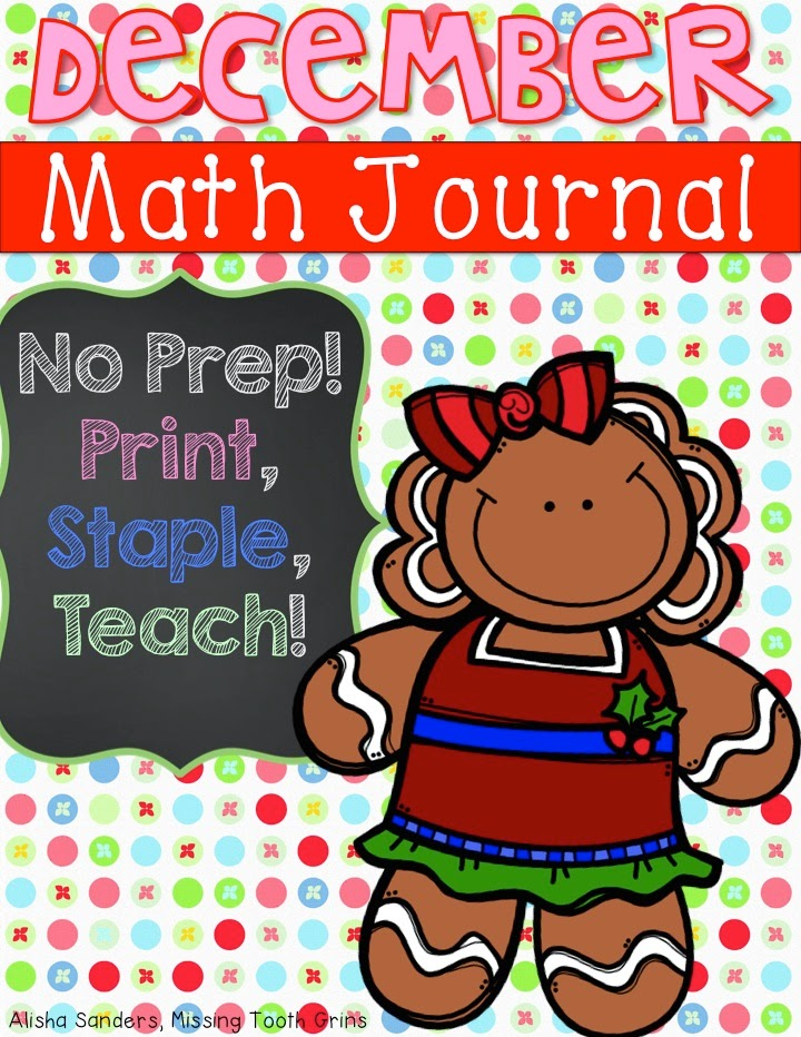 http://www.teacherspayteachers.com/Product/December-Math-Journal-No-Prep-1562644