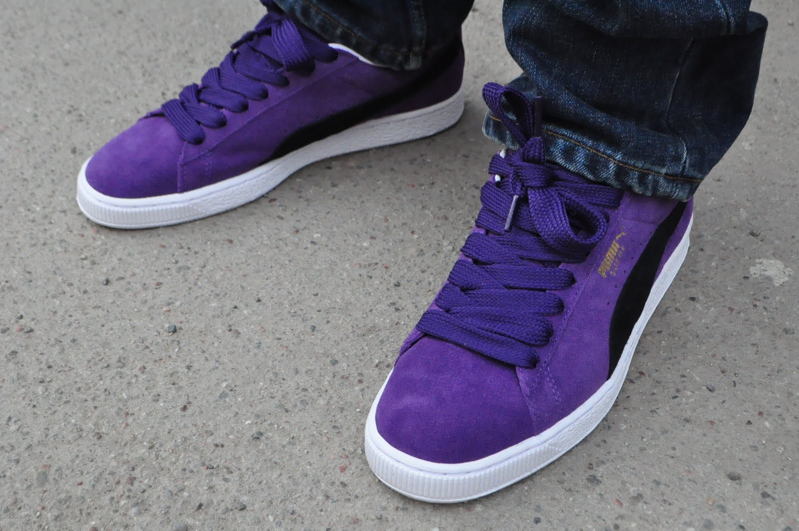 basket puma suede classic purple