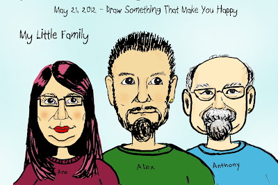 My Little Family Cartoon drawing by © Ana Tirolese