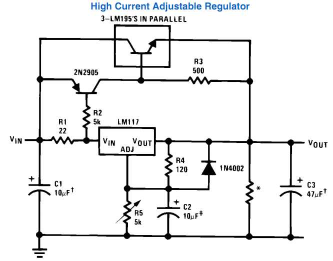 Related image with Adjustable High Current Power Supply With Lm317 Voltage Regulator.