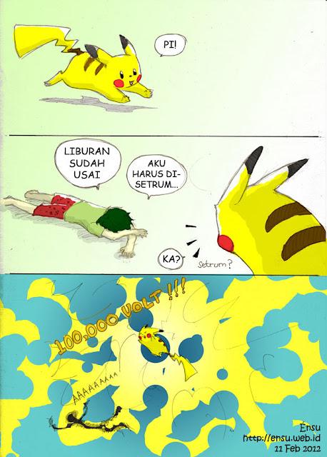 Pikachu's Thunderbolt Comicstrip by Endang Sudaryani