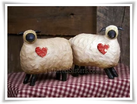 Primitive Sheep with Hearts
