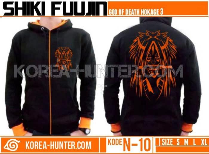 KOREA-HUNTER.com jual murah Jaket Anime Naruto - Dewa Kematian - Shiki Fuujin | kaos crows zero tfoa | kemeja national geographic | tas denim korean style blazer