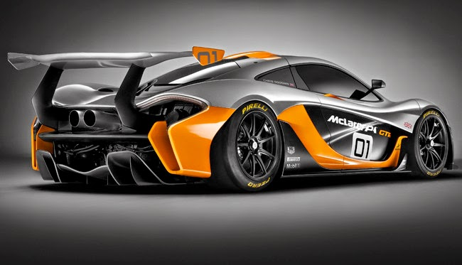 Aerodinámica McLaren P1 GTR