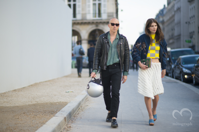Stylist Ursina Gysi and Photographer Dominic Haydn Rawle at Paris Fashion Week 2014 Spring Summer PFW
