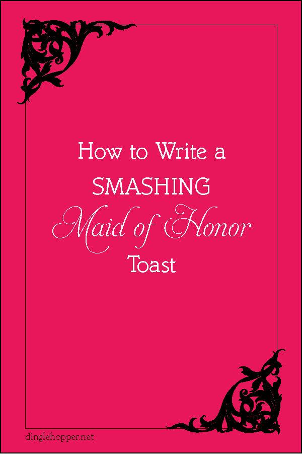 need help writing a speech for a wedding - I Need Help Writing A ...