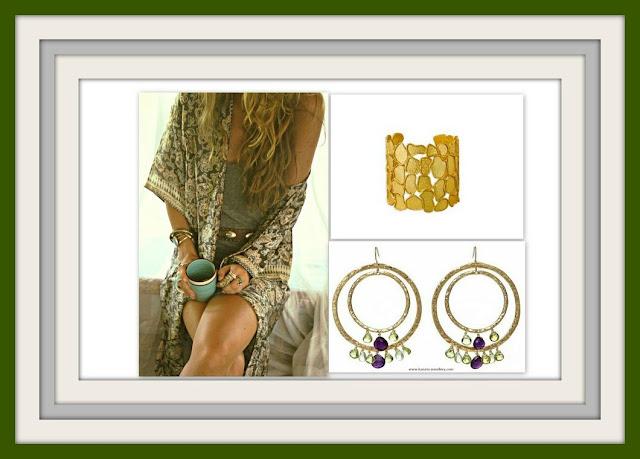 summer jewelry, summer jewellery, gemstones, cuffs, hoop earrings, gold