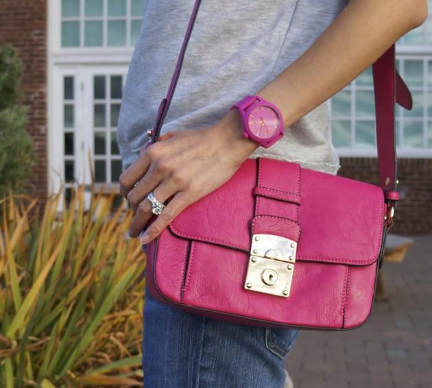 Melie_Bianco_Carrie_Bag_pink, ESQ_Movado_Watch_pink