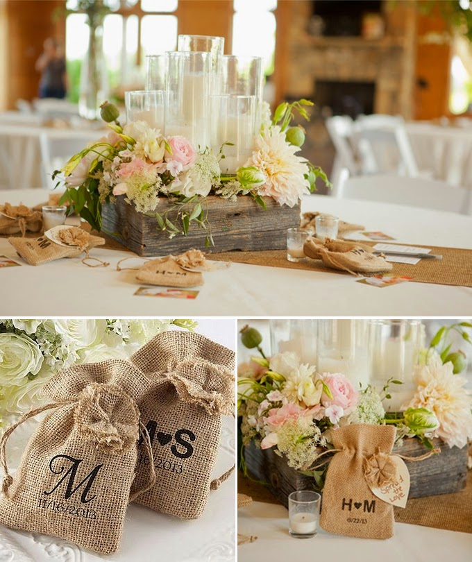 Burlap wedding decorations and ideas Burlap bag decorating ideas