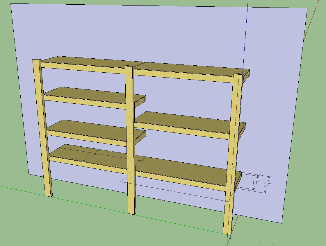 Diy Garage Shelves 2x4 The diy garage shelf design