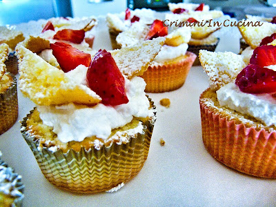 butterfly cakes alle fragole